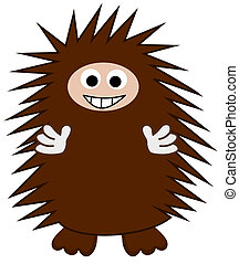 a smiling Brown Hedgehog