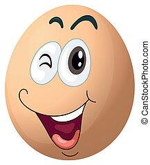 A smiling egg