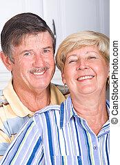 european senior couple