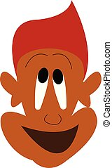 A smiling face vector or color illustration