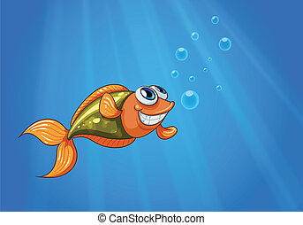A smiling fish in the ocean