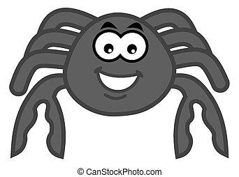 a smiling grey crab