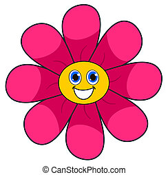 a smiling pink flower