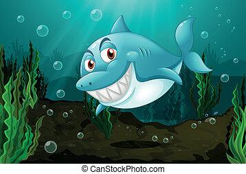 A smiling shark
