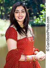 traditional indian woman