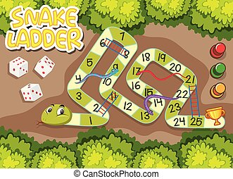 A snake game template