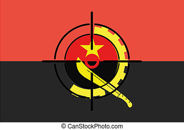 Sniper Scope on the flag of Angola