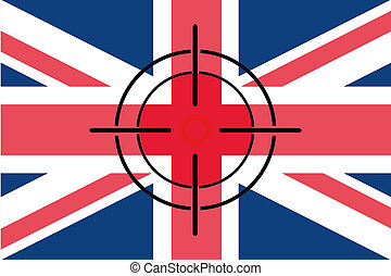 Sniper Scope on the flag of United Kingdom