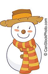 A snow man