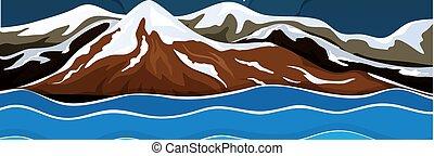 A snow mountain landscape