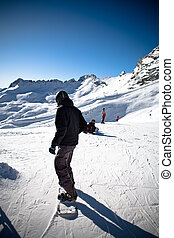 snowboarder - a snowboarder in action