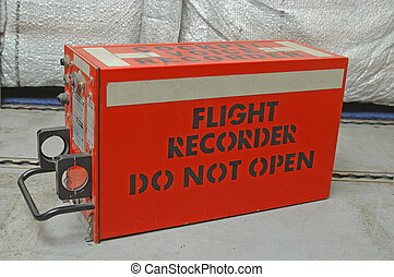 "A so-called ""black box"" cockpit voice recorder from a commercial aircraft"