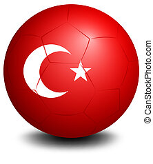 A soccer ball from Turkey