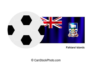 A Soccer Ball with Falkland Islands Flag