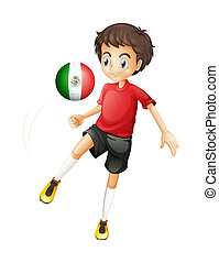 A soccer ball with the flag of Mexico