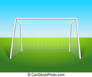 vector illustration of soccer goal rh canstockphoto com Soccer Player Clip Art soccer goal pictures clip art