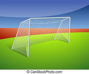 Illustration of a soccer goal