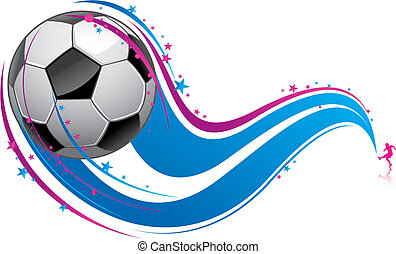 a soccer pattern background