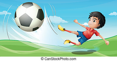 Illustration of a soccer player