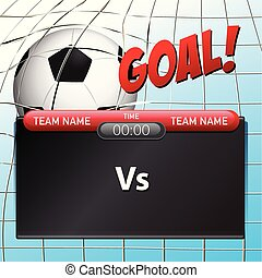 A soccer scoreboard template illustration