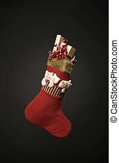 A sock full of christmas present
