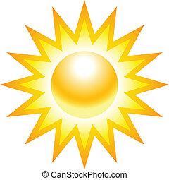 a, sol, ilustração