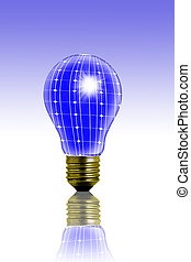 solar - a solar panel light bulb for a new ecology concept