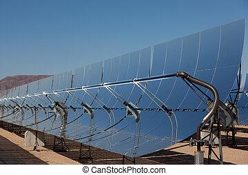 A solar power plant in the California Desert - Solar...