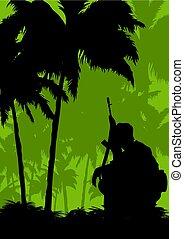 a, soldat, auf, a, mission, in, der, jungle..eps