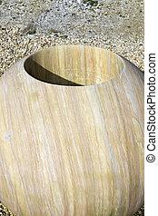 solid rock decorative pot