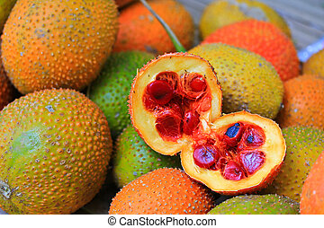 A Southeast Asian fruit, commonly know as Gac, Baby...