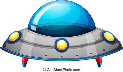 A spaceship toy - Illustration of a spaceship toy on a white...