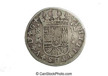 a Spanish medieval coin, king Felipe V