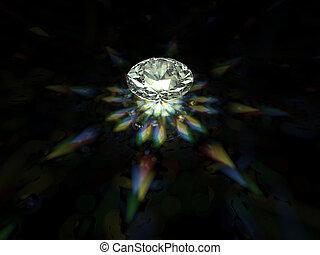 sparkling brilliant - A sparkling brilliant cut diamond on...