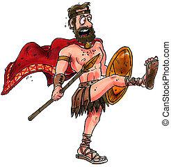spartan - A spartan warrior with a Spear and a shield