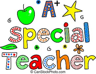 a special teacher - A SPECIAL TEACHER decorative whimsical...