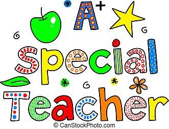 a special teacher - A SPECIAL TEACHER decorative whimsical ...