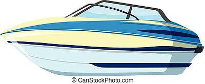 A speedboat on whitebackground illustration