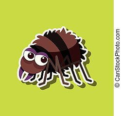 A spider character sticker