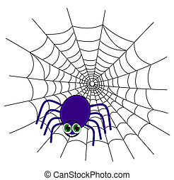 a spider on a web