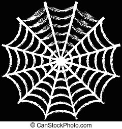 A spider web vector