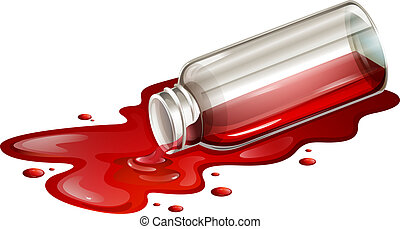 A spilled blood sample - Illustration of a spilled blood...