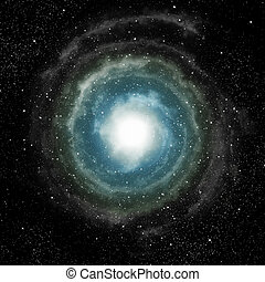 spiral galaxy in deep outer space - a spiral galaxy in deep...