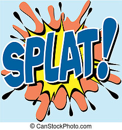 Comic Book Illustration - A Splat Comic Book Illustration