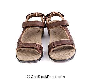 A sport brown sandals