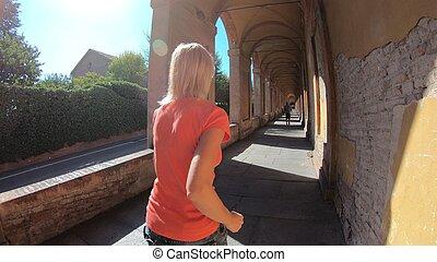 sportwear woman running