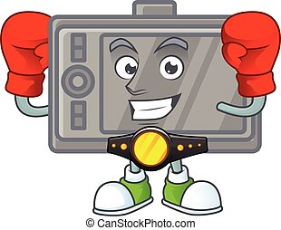 A sporty Boxing wacom cartoon character design style