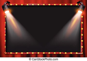 A spotlight theatre stage