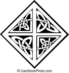 A square celtic knots design