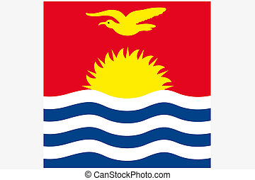 Square Flag Illustration of the country of Kiribati - A ...
